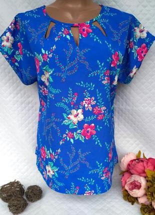 Красивая блуза цветочный принт размер 12-14 (44-46)