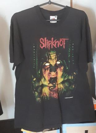 14fa22f5f26 Женская хлопковая футболка черная оверсайз слипнот slipknot рок метал  готическа