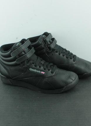 Оригинальные кожаные кроссовки reebok freestyle hi 2240