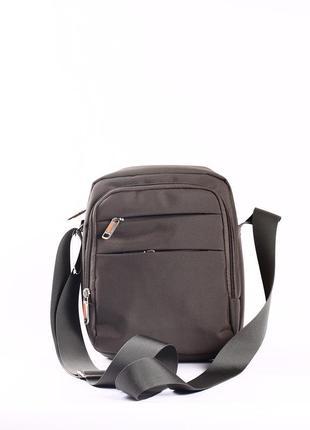 Качественная мужская сумка текстиль 22см