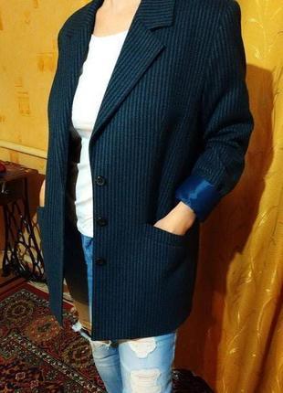 Базовый синий пиджак-френч