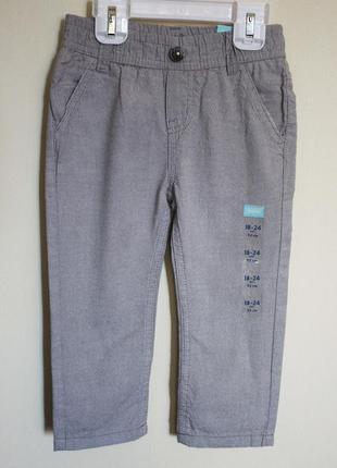 Крутые брюки для мальчика 18-24 мес штаны классика демисезон лето