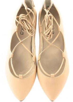 Кожаные туфли-балетки braska, р.40