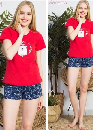 Пижама с шортами футболкой vienetta secret