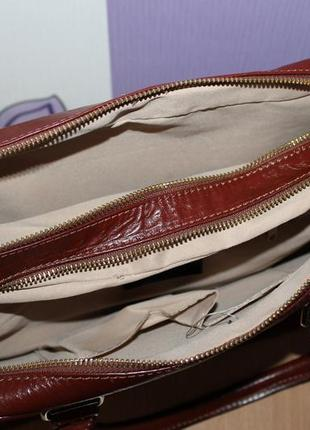 Деловая стильная кожаная сумка lavorazione artigianale италия5 фото