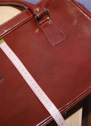 Деловая стильная кожаная сумка lavorazione artigianale италия8 фото