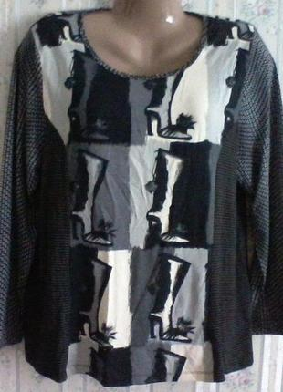 Стильная блуза-футболка, вискоза с эластаном, италия, разм. 16(52)