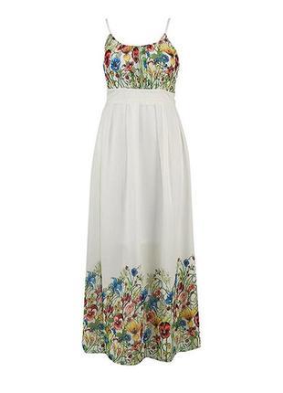 Платье макси в пол с цветочным принтом плаття довге /повний розпродаж магазину