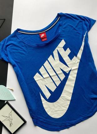 Оригинальная свободная синяя футболка nike