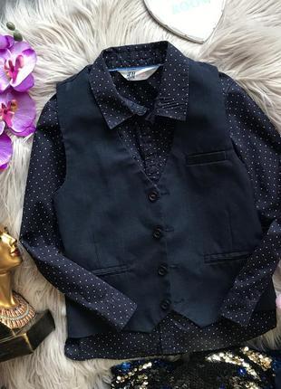 Рубашка сорочка h&m 6-7 лет 122 жилетка