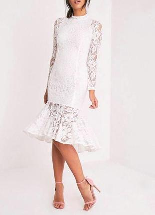 😍💕гипюровое кружевное платье prettylittlething для выпускного или свадьбы 💕😍