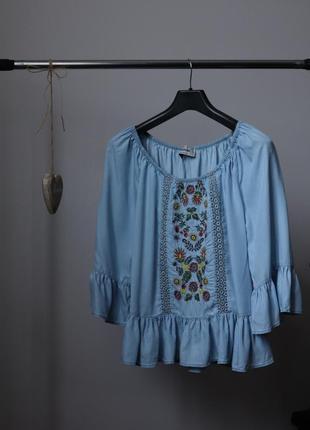 Невероятно красивая блузка new look с вышивкой
