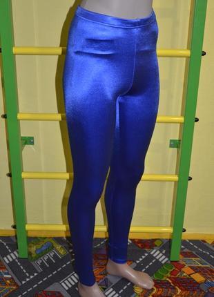 Яркие синие лосины неоновые f&f