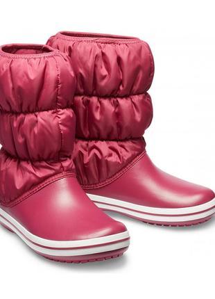 Сапоги crocs winter puff boot, 34-43 евро