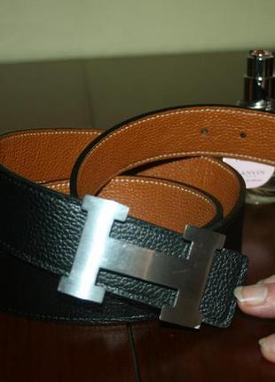 Элегантный классический кожаный пояс hermes