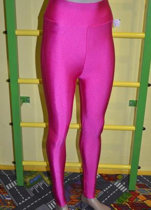 Яркие розовые лосины неоновые