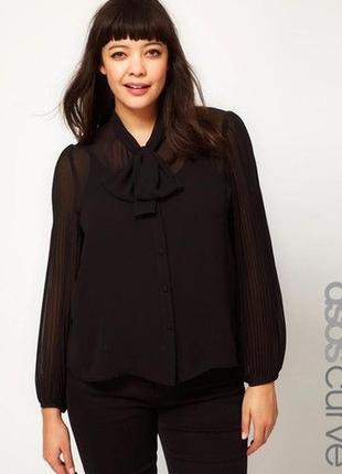 Трендовая блуза -рукава гафрированные размер 24 (52-56)
