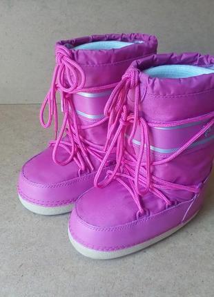 Сапоги сноубутсы мунбуты для девочки розовые