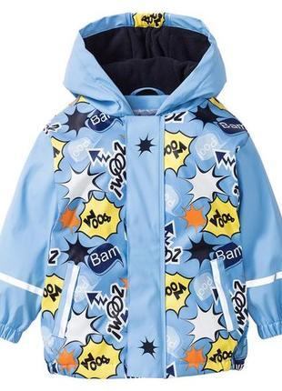 Дождевик на флисе водонепроницаемая куртка ветровка lupilu для мальчиков и девочек