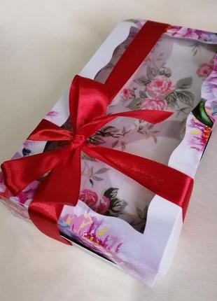 Шикарная хлопковая скатерть с цветочным принтом на подарок