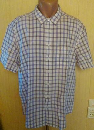 Рубашка в клетку в составе лен