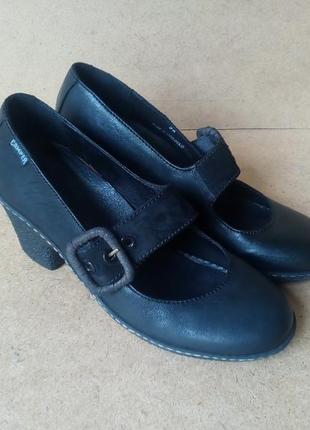 Туфли camper кожаные черные