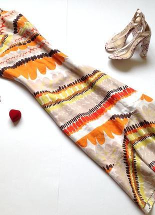 Длинное льняное платье сарафан
