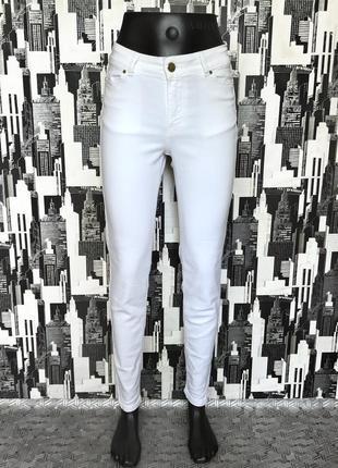657 белые джинсы скинни средней посадки zara
