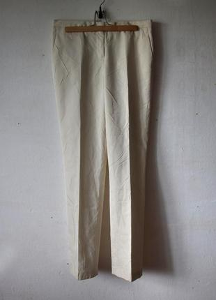 Брюки jil sander имитация мятой кожи. шелк в составе