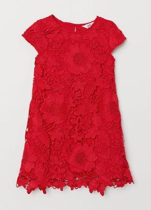 Платье h&m из кружева 4-5y{110см}4 фото