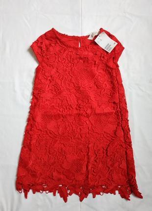 Платье h&m из кружева 4-5y{110см}6 фото