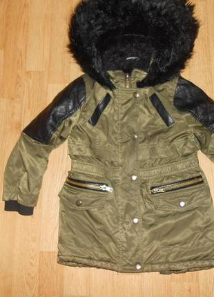 Куртка-парка на девочку 4-5 лет