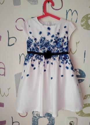 Платье kids couture котон летнее девочка 5-6 лет (116см) как новое