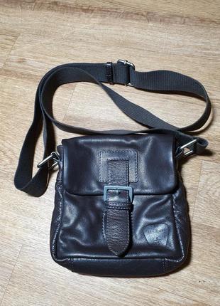 Мужская кожаная сумка strellson1 фото