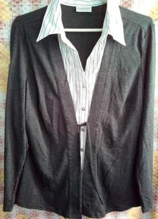 Рубашка-кардиган обманка 50р.