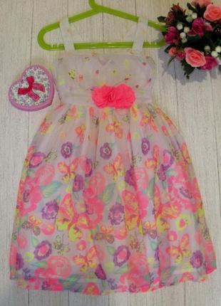 Красивое шифоновое платье на 3 -4 года
