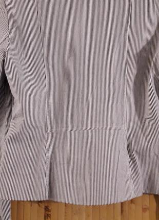 Полосатый в морском стиле коттоновый жакет пиджак в полоску льняной выделки бренд f&f4 фото