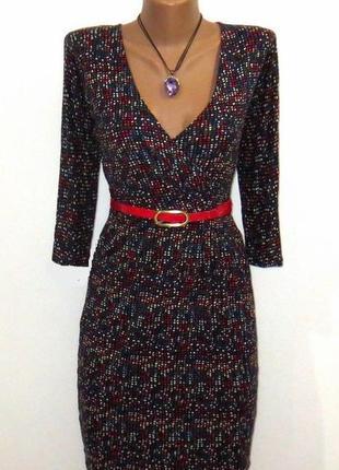 Стильное платье от indiska стройнящий крой размер: 44-s