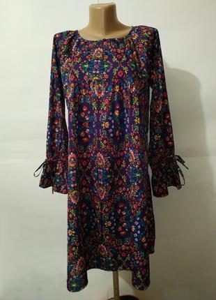 Легкое цветочное красивое платье uk 10/38/s