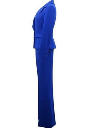 Брючный костюм синий костюм брючный gabbana