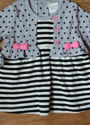 Новое милое платье туника rock a bye baby на 3-6 месяцев