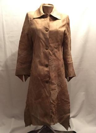 Шикарнейшее эксклюзивное 💯 % кожаное мягкое легкое пальто с симметрией