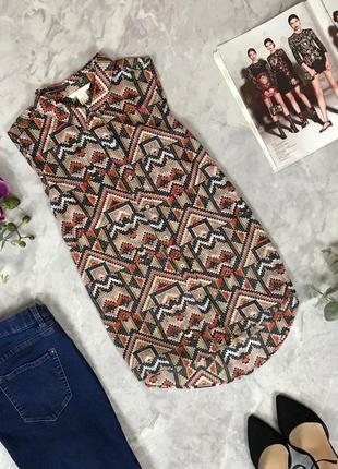 Шифоновая блуза-безрукавка  bl1919032 h&m