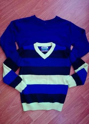 Два джемпера свитера на мальчика в отличном состоянии на 5—6 лет без катышек