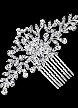 Свадебный, выпускной гребень для волос камни, аксессуары для волос
