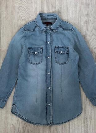 Denim,крутая джинсовая рубашка на 8-9 лет,рубашка denim co,джинсовая рубашка на девочку!🦋