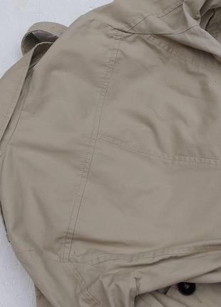 Стильный хлопковый тренч плащ базовый цвет двубортный от united colors of benetton5 фото