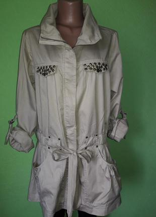 Стильная куртка ветровка с натуральной ткани