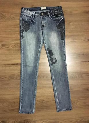 Идеальные джинсы,штаны с рисунком,низкая посадка!!