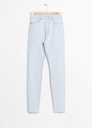 Джинсы & other stories light wash denim jeans